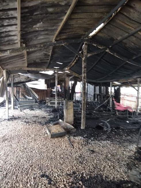 המקום שפעל במשך שלוש שנים נחרב עד היסוד