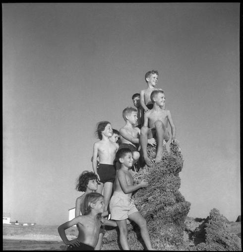 ילדים בחופשת הקיץ, סוף שנות ה-50. מתוך התערוכה