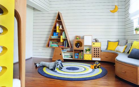 חדר ילדים משותף. עיצוב פנים:  שרית שני חי, צילום: רוני כנעני